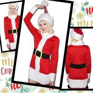 TIPSY ELVES X DOLLS KILL Santa Claus Knit Dress M